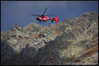 Secours hélicoptère