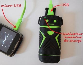 Charger un appareil avec la batterie externe