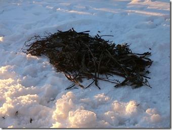 Isolation bivouac neige