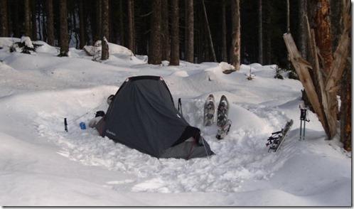 Bivouac dans la neige, Vosges