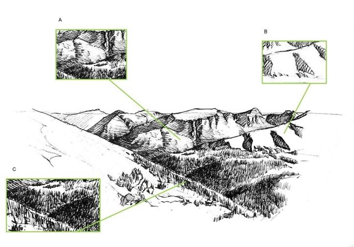 Chipoter-dessin de randonnée