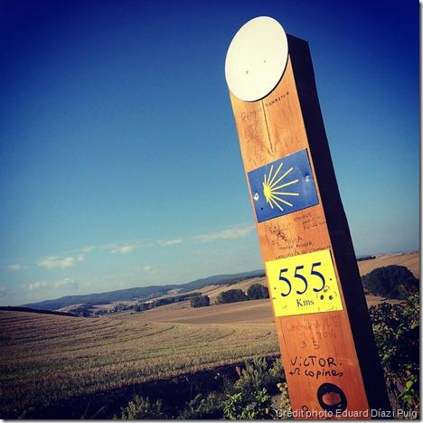 Borne du chemin de Saint-Jacques de Compostelle