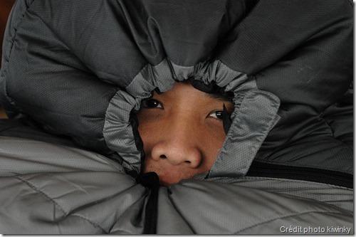 Limiter les échanges d'air entre l'intérieur et l'extérieur - sac de couchage