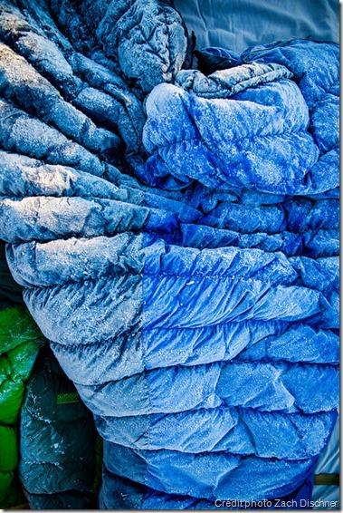 Lutter contre l'humidité - sac de couchage