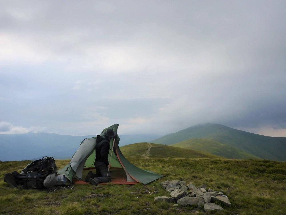 De violents orages parfois sur les montagnes d'Europe