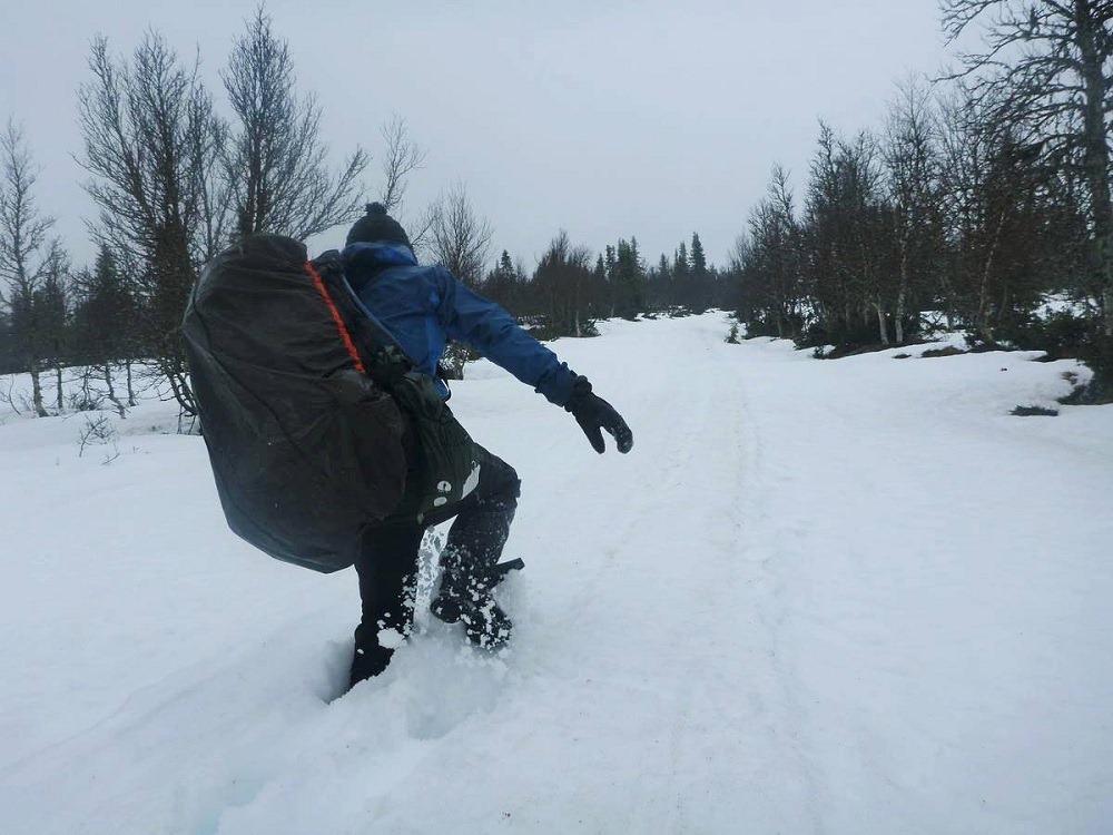 Il reste beaucoup de neige en Norvège