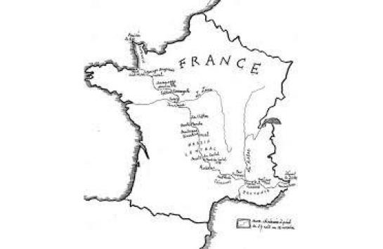 Itinéraire emprunté par Sylvain Tesson